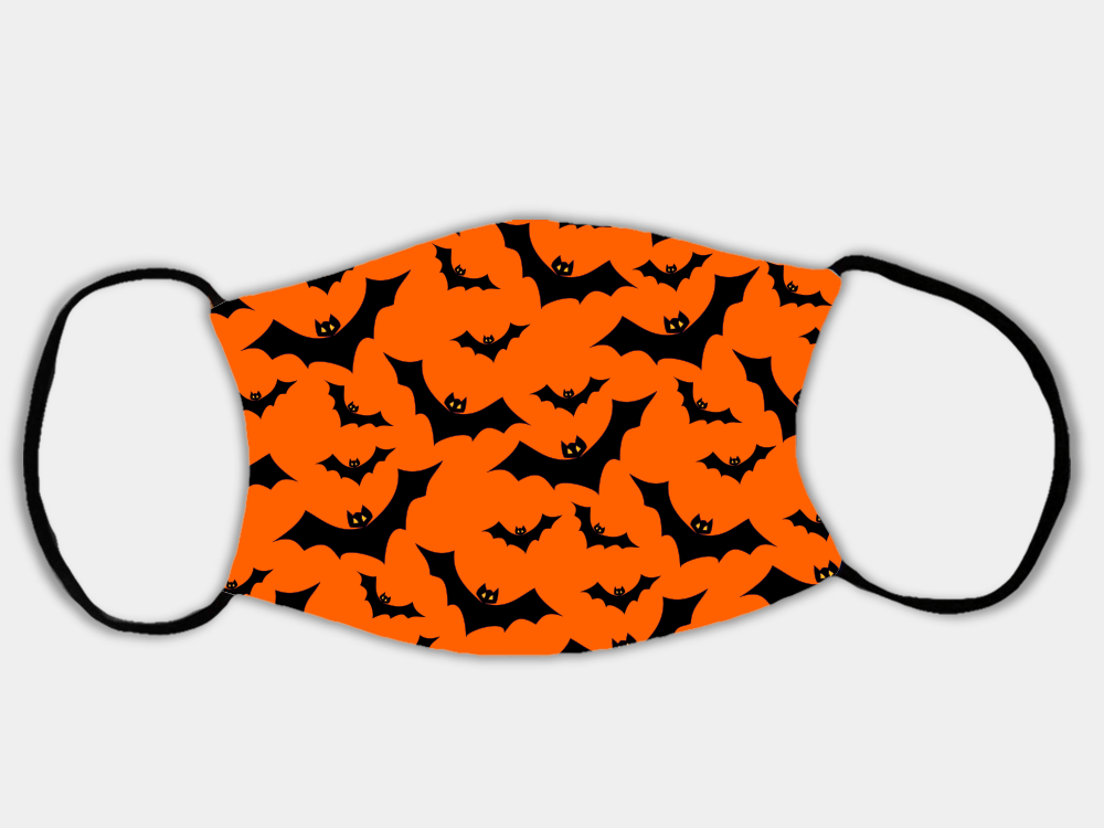 Country Images Personalised Custom Face Mask Masks Facemask Facemasks UK Scotland Gifts Halloween Bats