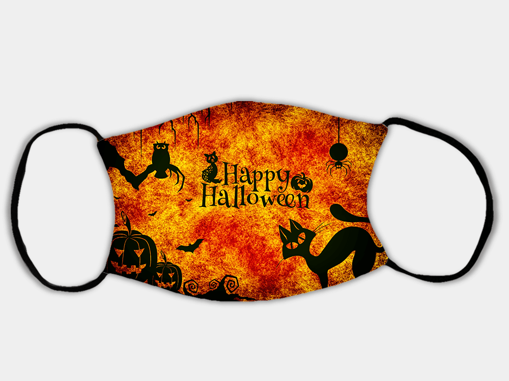Country Images Personalised Custom Face Mask Masks Facemask Facemasks UK Scotland Gifts Halloween Design