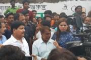 नाजिया पहुंची भाटपार, साथ मे बीजेपी के बड़े नेता रहे साथ