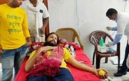 दरभंगा /मिथिला स्टूडेंट यूनियन के सदस्यों ने रक्तदान कर दिया मानवता का परिचय