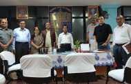 पटना /बिहार दर्शन परिषद् के 43 वाँ वार्षिक अधिवेशन के आयोजन को लेकर वीर कुँवर सिंह विश्वविद्यालय, आरा के कुलपति प्रो. के. सी. सिन्हा की अध्यक्षता में नालंदा खुला विश्वविद्यालय, पटना के कुलपति चैम्बर में परिषद् के पदाधिकारियों के साथ बैठक