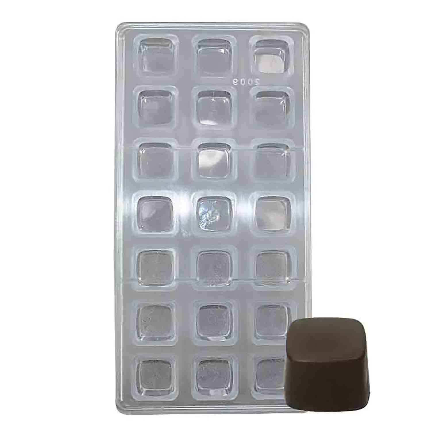 Square Polycarbonate Chocolate Candy Mold NY PC2009