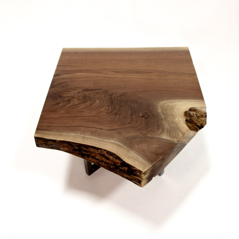 walnut live edge slab coffee table