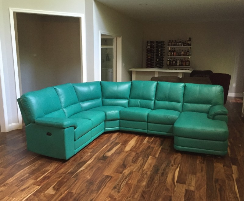Genuine Leather Sectional North American Made Leather