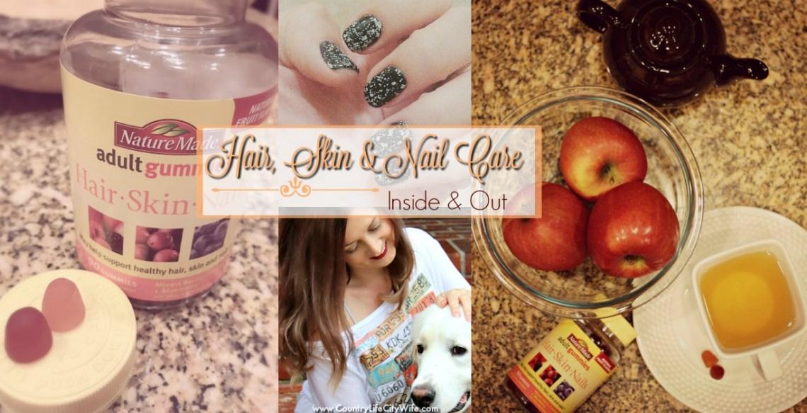 hair, skin and nail care