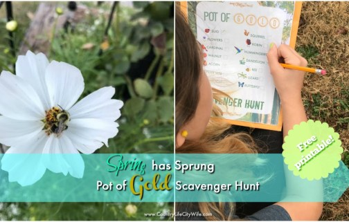 Spring is Here Pot of Gold Scavenger Hunt