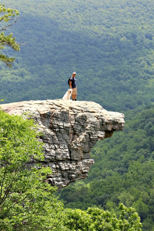 Hiking Arkansas Hawksbill Crag