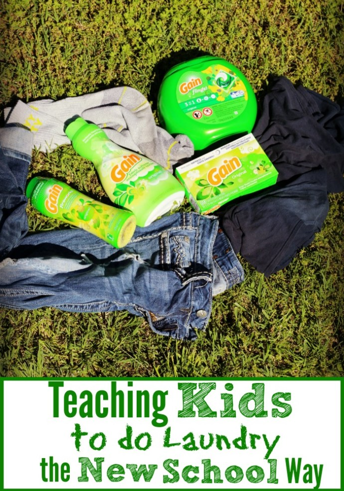 teach kids to do the laundry