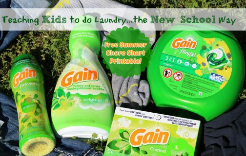 Showing Kids The New School Way of Doing Laundry – FREE Printable