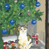 """""""Molly-My Cat"""" Painted by Norma Flannigan, a resident at Country Meadows of York"""