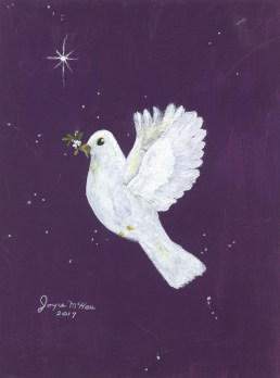 """""""Peace On Earth"""" Painted by Joyce McKee-a resident of Ecumenical Retirement Community-a non-profit sister community of Country Meadows"""