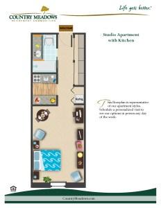 Studio Apartment with Kitchen