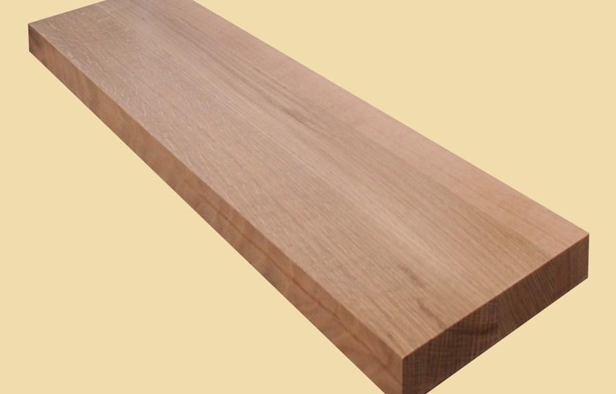 Custom Size Quartersawn White Oak Extra Thick Stair Tread | Custom Oak Stair Treads