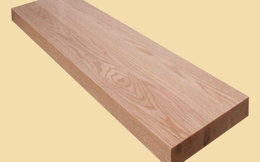 Custom Size Red Oak Extra Thick Stair Tread Prefinished | Custom Oak Stair Treads