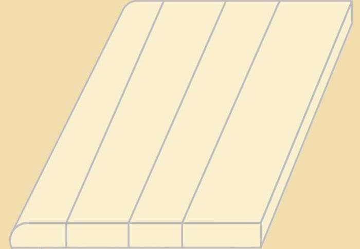 Custom Size White Oak Replacement Stair Tread | Custom Oak Stair Treads