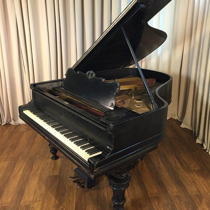 1900 Steinway Grand Piano Model A In Victorian Style Ebony