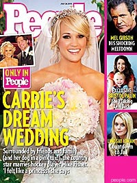 Carrie & Mike – People Magazine has wedding info & photos