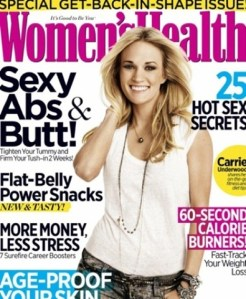"Carrie Underwood on October cover of Women's Health – and a little about ""Soul Surfer"""