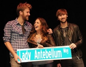Welcome Home for Lady Antebellum includes getting their own street