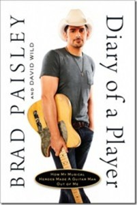 "Brad Paisley authors ""Diary of a Player,"" book to be released Nov. 1, 2011"