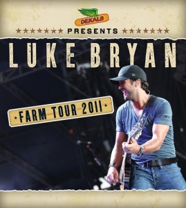 Press release announces NRA Country and Luke Bryan together again for Bryan's Farm Tour