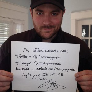 Chris Young certifies 'who he is' for his fans