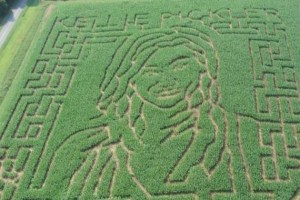 North Carolina Corn Maze is portrait of Kellie Pickler