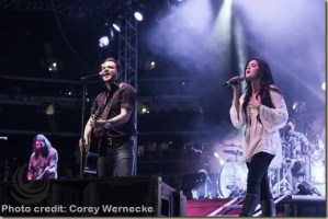 Lucy Hale surprises 18,000 fans at Eli Young Band House Party in Arlington, Texas