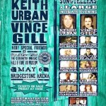 Keith Urban's All For the Hall annual concert line-up