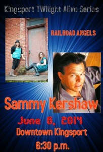 Kingsport Twilight Alive Series to feature Sammy Kershaw and Railroad Angels