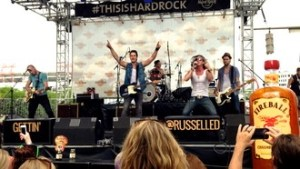 Florida Georgia Line's Tyler Hubbard joins newcomer Russell Dickerson for surprise appearance