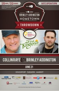 Win two tickets to see Collin Raye and Brinley Addington on Saturday evening!