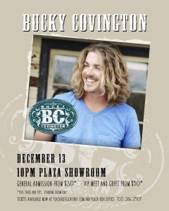 Bucky Covington to perform in Vegas during Wrangler National Finals Rodeo