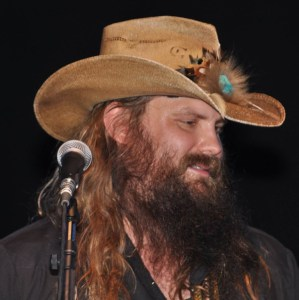 Chris Stapleton on stage at the Appalachian Fair