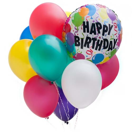 Happy Birthday Jaclyn Cake And Baloons