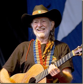 (Ppage1)- 6/15/05- Lakewood- Photo by Peter Ackerman- Willie Nelson in concert with Bob Dylan at First Energy Park in Lakewood.
