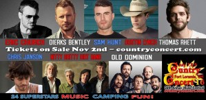 Not too early to think about summer vacation and Country Concert 2016