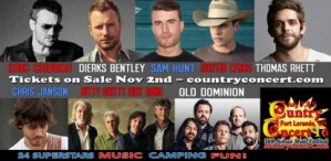 Here's your Country Concert '16 Superstar Line up!