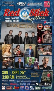 Country Stars John Conlee And Mark Chesnutt Team Up For 'Red Stick Together' Concert For Flood Relief In Baton Rouge