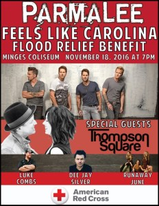Parmalee announces Feels Like Carolina Flood Relief Benefit Concert at East Carolina University
