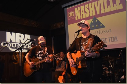 NASHVILLE, TN - NOVEMBER 01:  Tyler Farr and Jerrod Niemann perform at the Folds of Honor/CMS Nashville Songwriter of the Year Party during the 50th annual CMA Awards week on November 1, 2016 in Nashville, Tennessee.  (Photo by Rick Diamond/Getty Images for CMS)