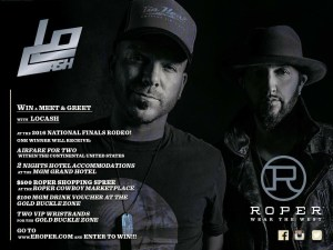 """LOCASH and Roper Team Up For Fans To Enter Chance To Win A """"Meet & Greet"""" At The 2016 National Finals Rodeo"""