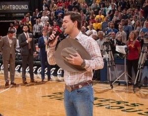 William Michael Morgan performs National Anthem at Indiana Pacers vs. Chicago Bulls game