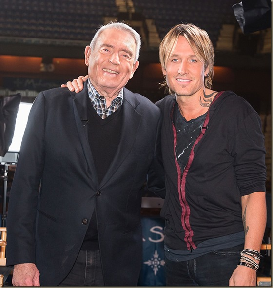 Dan Rather and Keith Urban