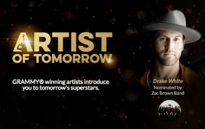 Drake White nominated for Artist of Tomorrow by Zac Brown Band