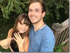 """Rachele Lynae, ca. 2015 """"I'M ENGAGED!!! ??? His name is Tim Creedon! He's the love of my life & most amazing man in the world & I am SO EXCITED!!! (More photo's coming in the near future!) — with Sohail Khan."""" courtesy Rachele Lynae Facebook FREE"""