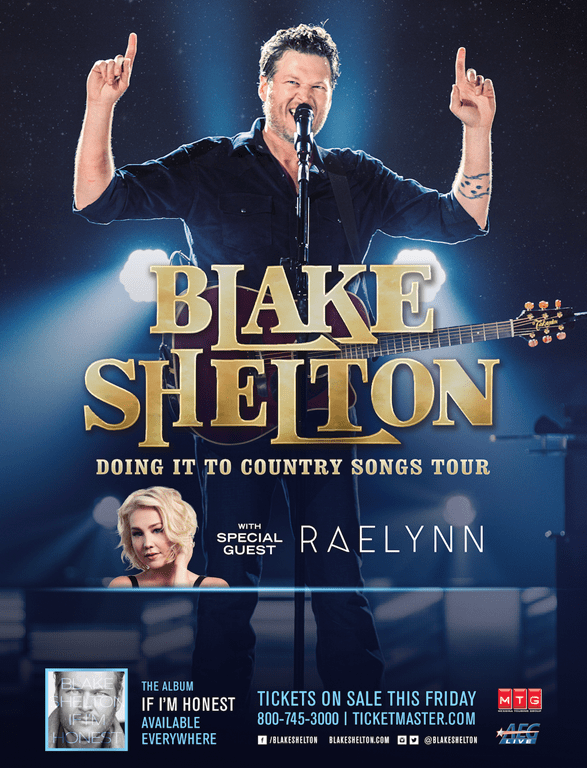 Blake shelton tour dates