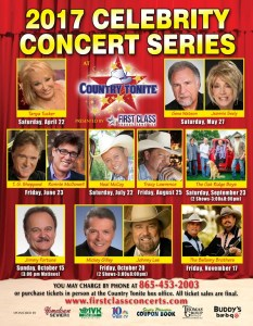Tanya Tucker, The Oak Ridge Boys, The Bellamy Brothers, Jimmy Fortune & More Set For 2017 Country Tonite Celebrity Concert Series In Pigeon Forge, TN