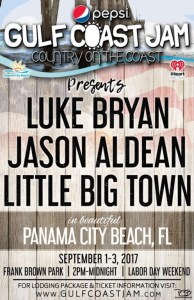 Pepsi Gulf Coast Jam headliners include Luke Bryan, Jason Aldean and Little Big Town