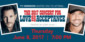 Ty Herndon's Concert for Love and Acceptance Set to Return June 8th
